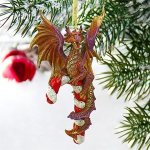 Cane and Abel the Dragon Holiday Ornaments
