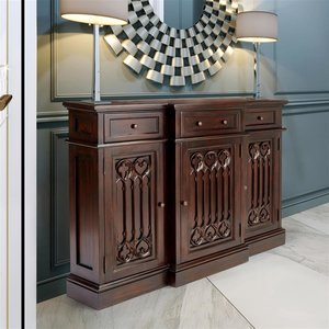 Canterbury Abbey Gothic Sideboard Console Table