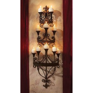 Carbonne Candle Chandelier Wall Sconce
