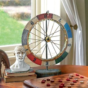 Carnival Game Wheel of Chance Metal Sculpture