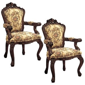 Carved Rocaille Chair: Set of Two