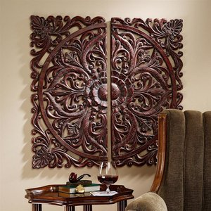 Carved Rosette Architectural Wall Sculpture