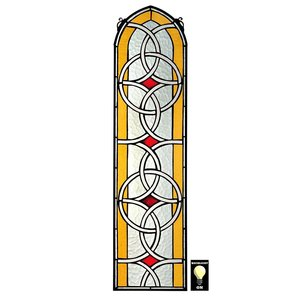 Celtic Knotwork Tiffany-Style Stained Glass Window