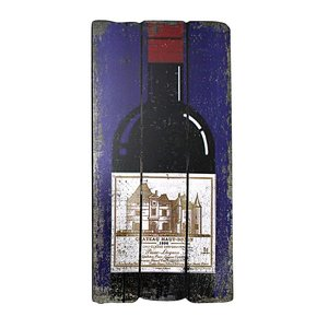 Champagne and Bordeaux Bottle Wall Plaques: Champagne