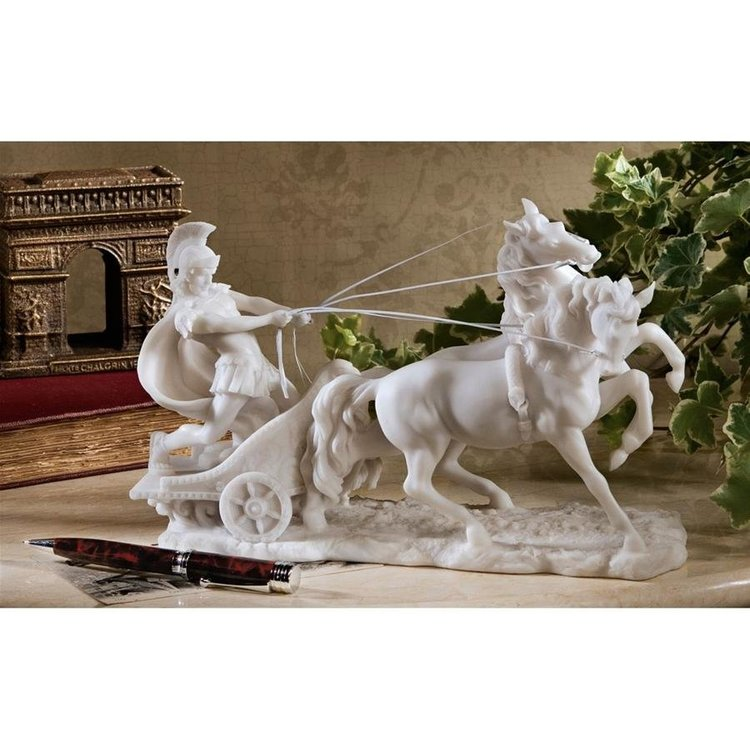 View larger image of Charge of the Roman Charioteer Sculpture