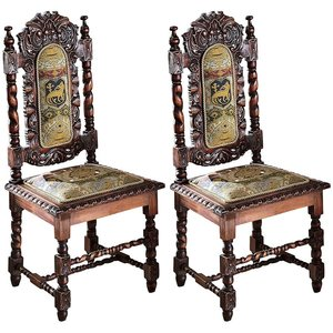 Charles II Side Chair: Set of Two
