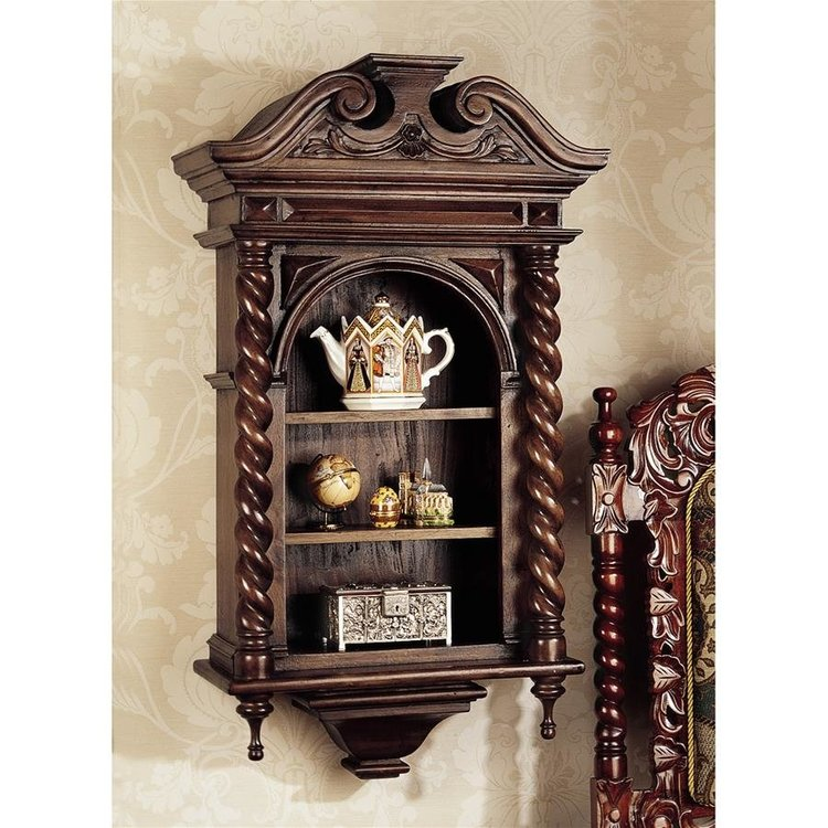 View larger image of Charles II Wall Curio Cabinet