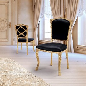 Chateau de Compiegne Rope and Tassel Carved Chairs