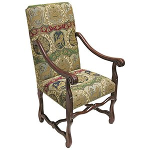 Chateau DuMonde Coat of Arms Dining Arm Chairs