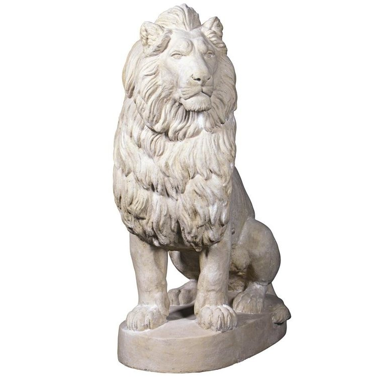 View larger image of Stately Chateau Lion Sentinel Garden Statues