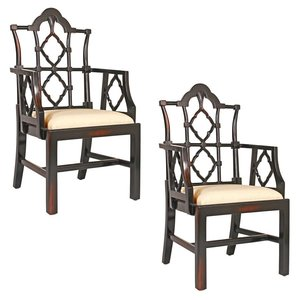 Chinese Chippendale Chair: Set of Two