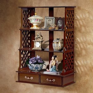 Chinese Chippendale Hardwood Curio