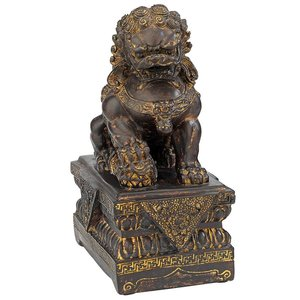 Chinese Guardian Lion Foo Dog Statue: Male