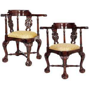 Chippendale Corner Chair: Set of Two