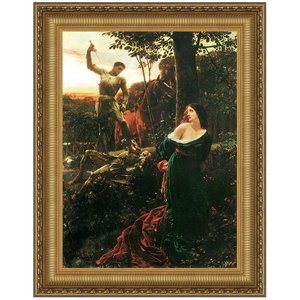 Chivalry, 1885: Canvas Replica Painting: Small
