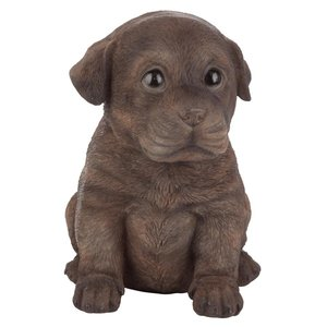 Chocolate Lab Puppy Partner Collectible Dog Statue