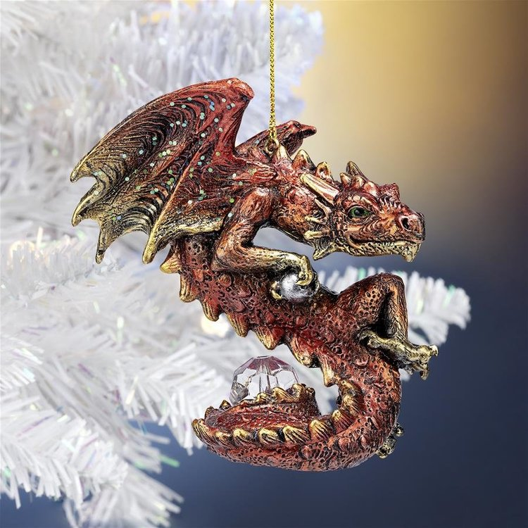 View larger image of Christmas Light Protector Dragon 2021 Gothic Holiday Ornaments