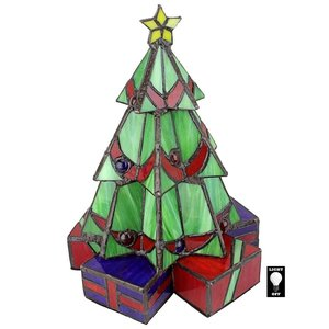 Christmas Tree Stained Glass Lamp Illuminated Sculpture