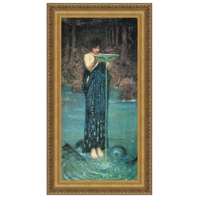 View larger image of Circe Invidiosa, 1892: Canvas Replica Painting