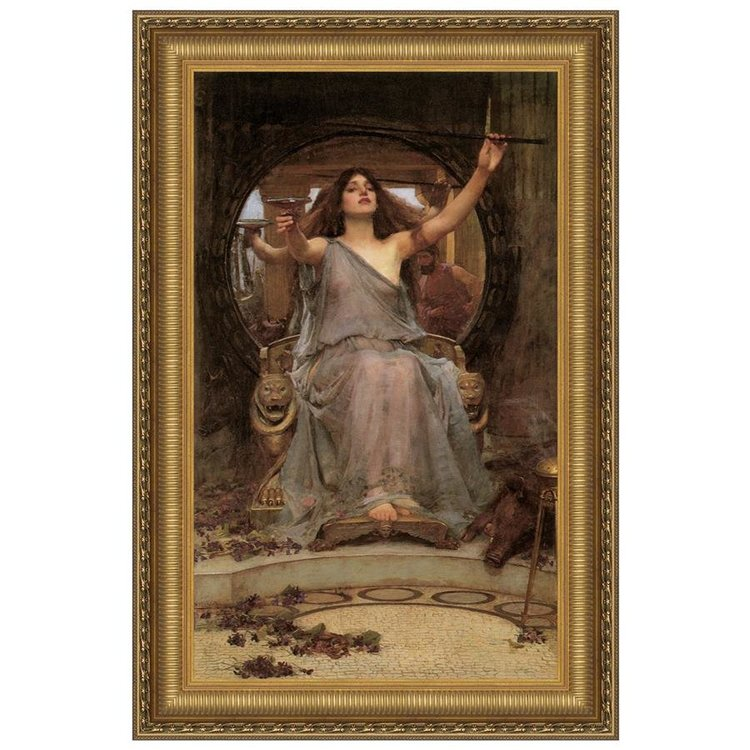 View larger image of Circe Offering the Cup to Ulysses 1891: Canvas Replica Painting: Small