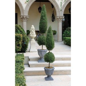 Classic Tapered Faux Evergreen Topiary Trees