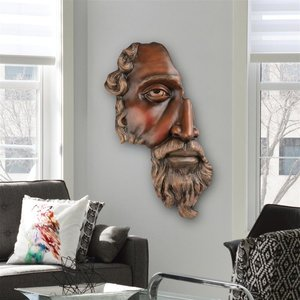 A Classical Fragment Wall Sculpture: Large