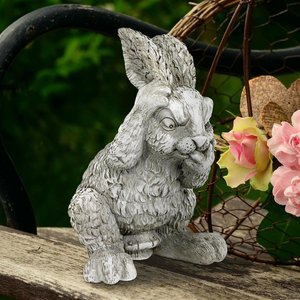 Clem the Confused Bunny Rabbit Garden Statue
