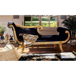 Cleopatra Neoclassical Chaise Sofa