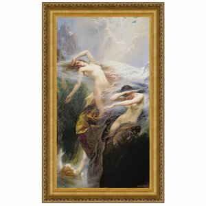 Clyties of the Mist, 1912: Canvas Replica Painting: Small