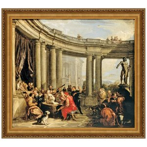 Concert Given in the Interior of a Circular Gallery of the Doric Order, Canvas Replica Painting: Large