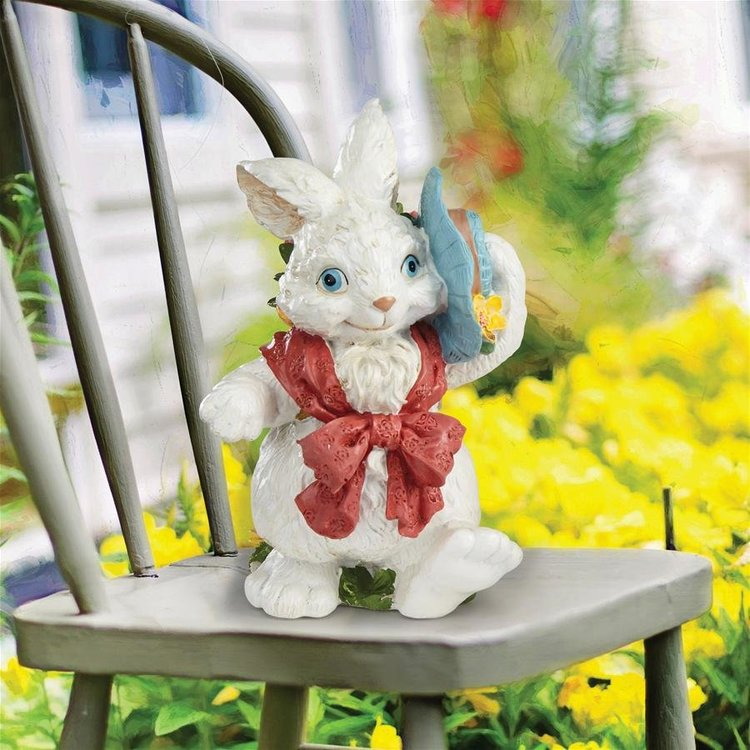 View larger image of Constance with her Easter Bunny Bonnet Rabbit Statue