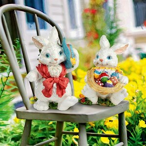 Constance and Mortimer Easter Rabbit Statues