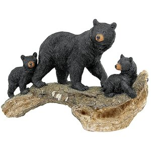 Controlling the Cubs, Mother Black Bear Animal Statue