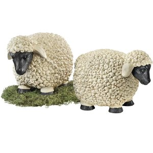 Counting Sheep Garden Statues: Set of Two Large