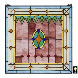 Craftsman Tiffany-Style Stained Glass Window