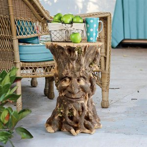 Craggy Bark Tree Ent Side Table