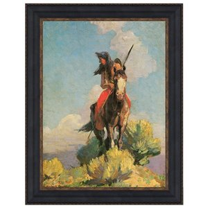 Crow Outlier, 1896: Canvas Replica Painting: Small