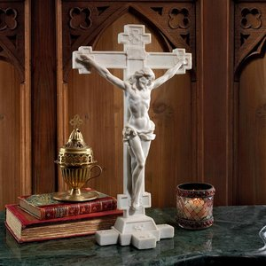 Crucifix: Body of Christ Bonded Marble Resin Statue