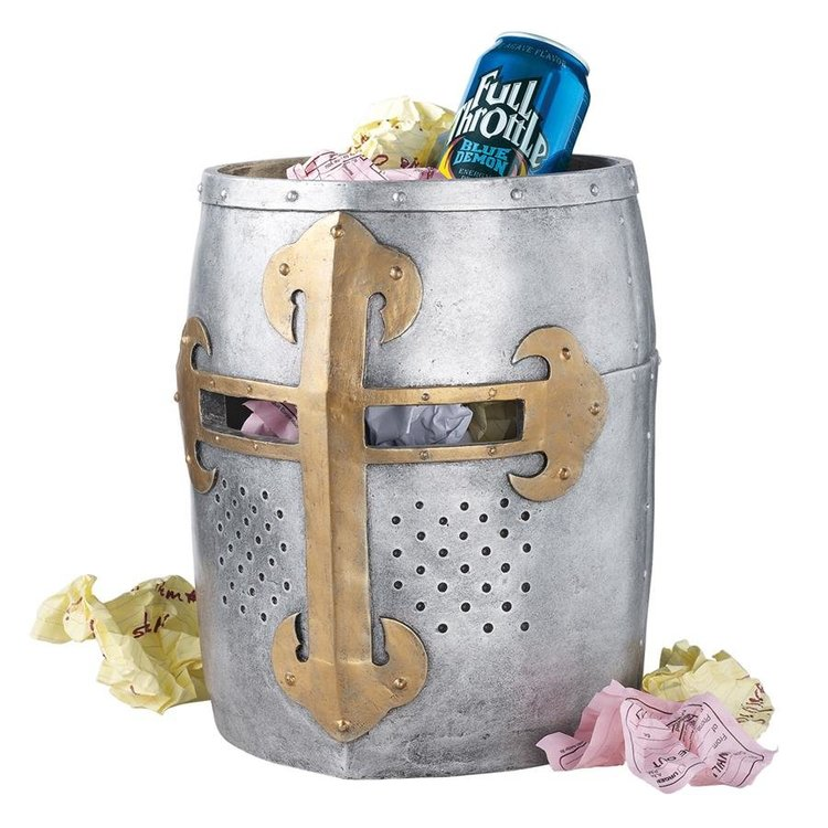 View larger image of Crusader's Great Helm Gothic Trash Bin