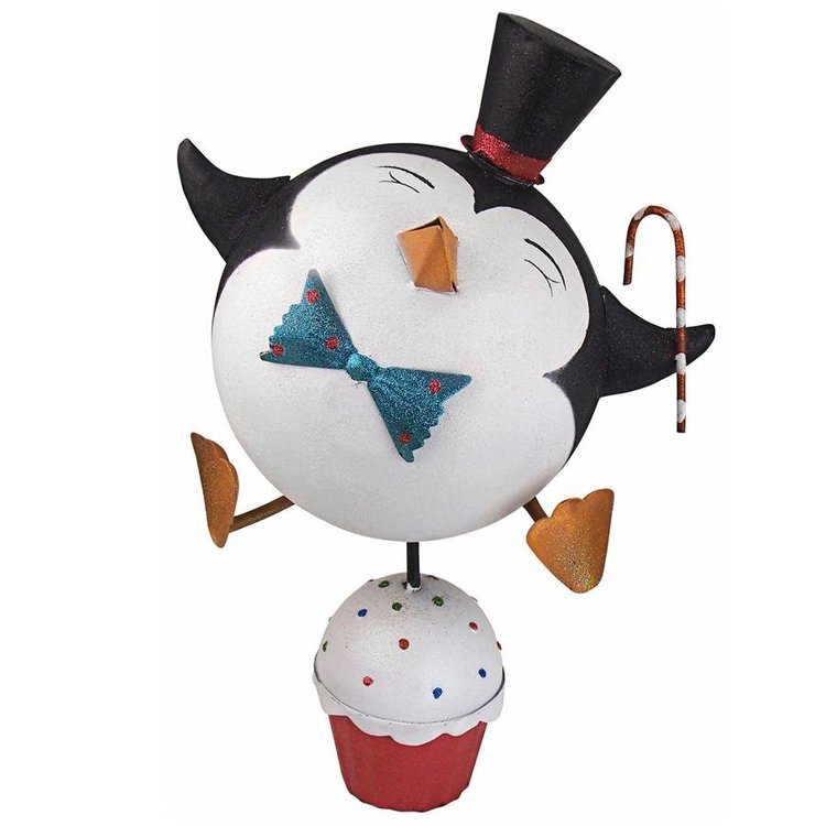 View larger image of Cupcake Chorus Line Holiday Penguin Statues: Set of Two