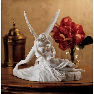 Cupid and Psyche Bonded Marble Resin Statue