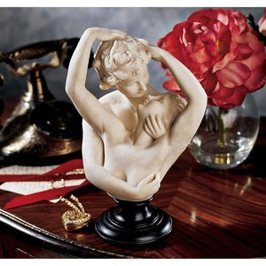 Cupid and Psyche Bonded Marble Bust