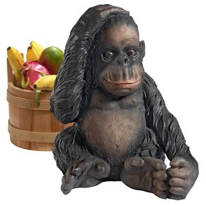 Curly the Chimpanzee of the Jungle Funny Monkey Statue