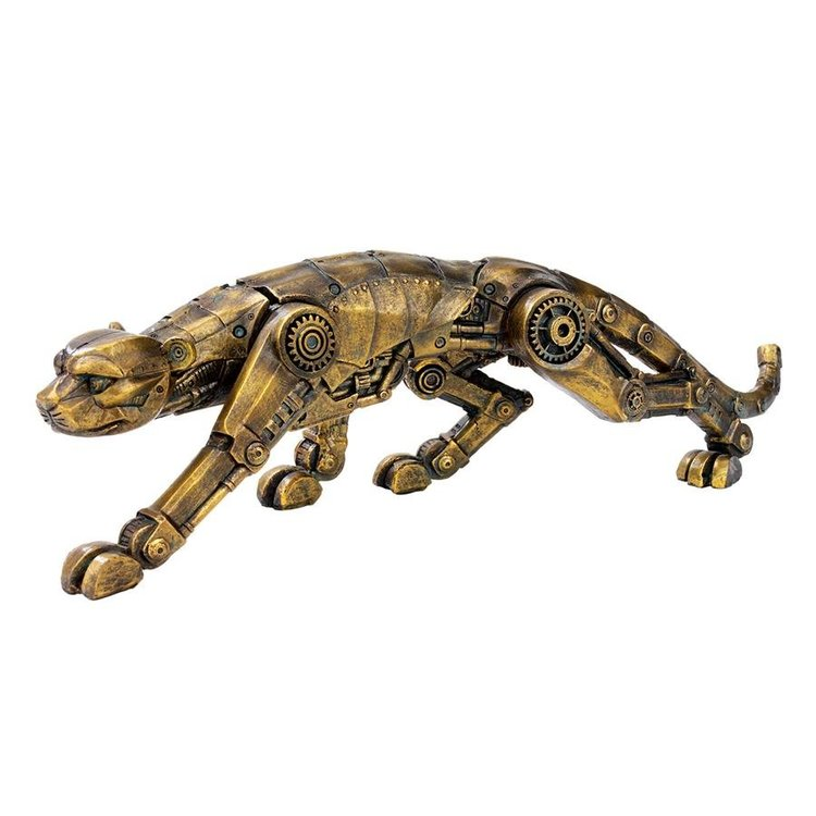 View larger image of Cyber Leopard Steampunk Statue
