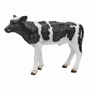 Daisy and Country Boy Cow Statues: Country Boy