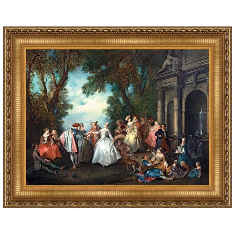 View larger image of Dance Before a Fountain, 1724: Canvas Replica Painting