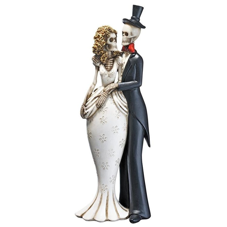 View larger image of Day of the Dead Skeleton Bride and Groom Statue