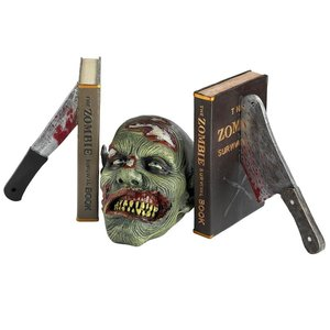 Dead Read, Bloody Zombie Sculptural Bookends