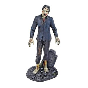 Dead Walking Zombie Statue Collection: Zombie with Tombstone