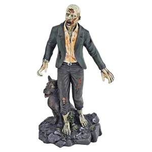 Dead Walking Zombie Statue Collection: Zombie with Wolf